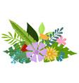 tropical flowers bouquet vector image vector image