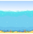 Underwater seamless landscape cartoon background vector image vector image