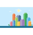 urban landscape and city life vector image vector image