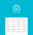 wall calendar poster for 2019 year print template vector image