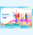 web page design template for travelers visiting vector image vector image