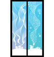 winter banners vertical vector image vector image