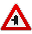 Left Crossroad Sign vector image