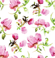 Watercolor seamless flower pattern vector image
