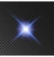 Star light shine Spotlight shining beams vector image