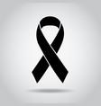ribbon black awareness melanoma sign symbol vector image