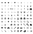 100 Medical icons set vector image vector image