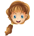 A head of a smiling girl vector image vector image