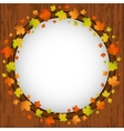 Autumn design frame wreath of colorful maple vector image vector image