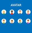 avatar business isolated set symbol flat icon vector image