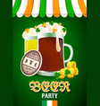 beer patry flyer vector image vector image