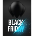 Black Friday Sale Air Balloon Poster Template with vector image vector image