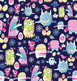 bright texture of monsters vector image vector image