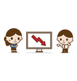 Business people looking at a bad results chart vector image