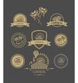 Carnival vintage badges vector image