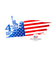 celebration flag america independence day vector image vector image