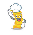 chef fusilli pasta character cartoon vector image