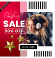 christmas fashion sale poster vector image