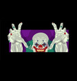 clown halloween costume clown flat design vector image vector image