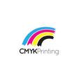 cmyk printing logo icon graphic design template vector image