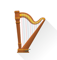 color flat style pedal harp vector image