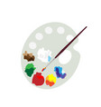 color palette and paint brush artist icon flat vector image
