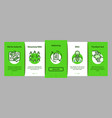 contract onboarding elements icons set vector image vector image
