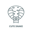 cute snake line icon cute snake outline vector image vector image