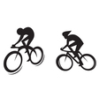Cyclist silhouette vector image vector image