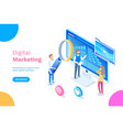 digital marketing concept poster can use for web vector image
