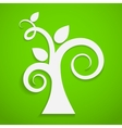 Eco icon Paper tree vector image vector image