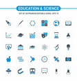 educational and science icons vector image