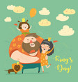 family celebrating kings day vector image vector image