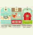 farm price tag label vector image vector image