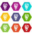 floodlight icons set 9 vector image vector image