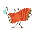funny accordion musical instrument cartoon vector image