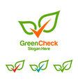 green check logo design vector image vector image
