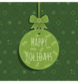 green christmas ornament vector image