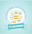 international accounting day vector image