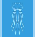 jellyfish isolated marine animal wildlife vector image vector image