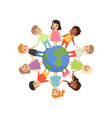 little kids of different nationalities standing vector image vector image