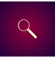 magnifier - icon vector image