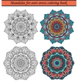 Mandalas for Anti-Stress Coloring Book 1 vector image