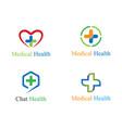 medical logo template vector image vector image