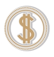 money coin icon vector image vector image