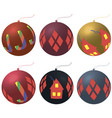 new year ornaments christmas balls vector image