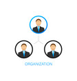 organization chart organizational structure vector image