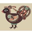 original retro cartoon chicken drawing symbol of vector image vector image