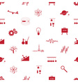 physics icons seamless pattern eps10 vector image vector image