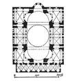 plan of hagia sophia later a mosque vintage vector image vector image